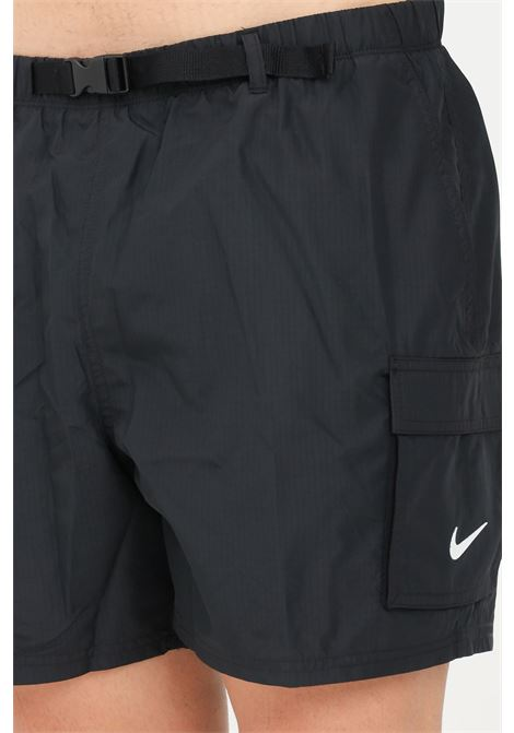 Shorts mare uomo nero nike con cintura regolabile NIKE   Beachwear   NESSB522-0011