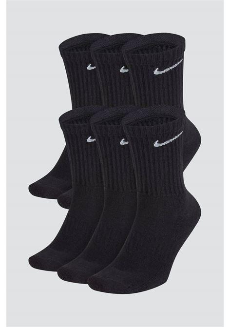 Black unisex everyday lightweight socks with contrasting nike logo NIKE | Socks | SX7666010