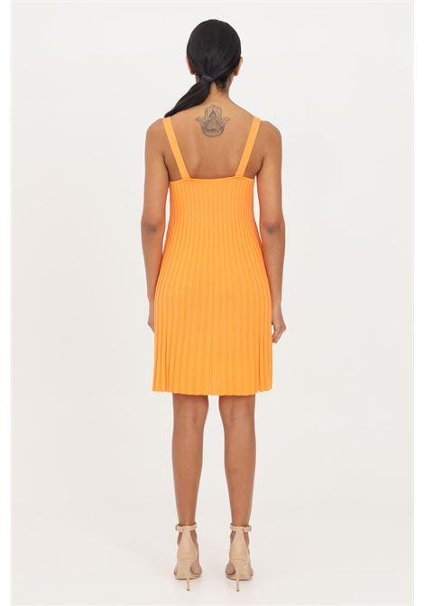 Abito donna corto arancio patrizia pepe con scollatura profonda PATRIZIA PEPE | Abiti | 2A2201-A6U7R717