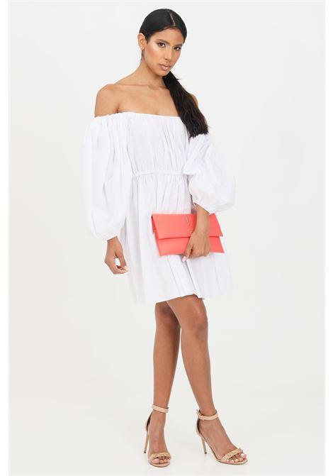 White short dress with wide sleeves patrizia pepe PATRIZIA PEPE | Dress | 2A2202-A9B9W103
