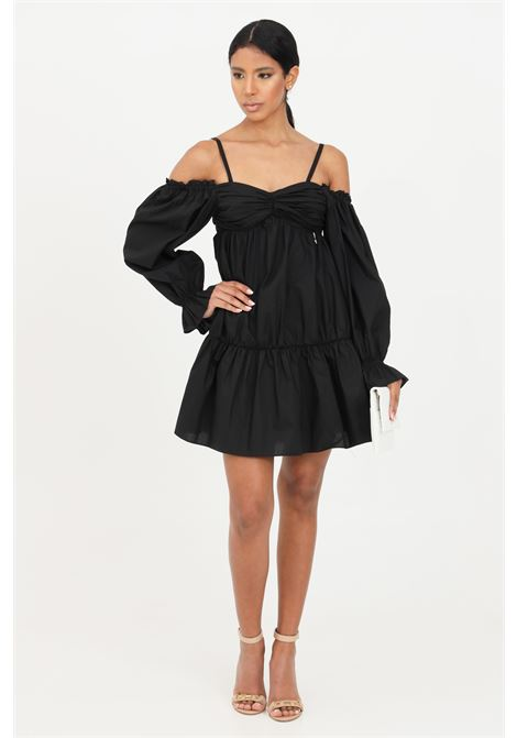 Black short dress with long sleeves patrizia pepe PATRIZIA PEPE | Dress | 2A2203-A9B9K103