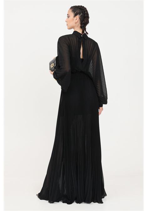 Abito donna lungo nero da sera patrizia pepe con plisset PATRIZIA PEPE | Abiti | 2A2213-A9D5K103