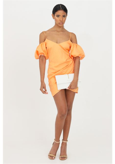 Orange short dress with balloon sleeves patrizia pepe  PATRIZIA PEPE | Dress | 2A2223-A9C3R717