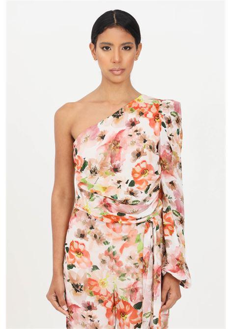 Floral elegant top one shoulder model patrizia pepe PATRIZIA PEPE | Top | 2C1268-A9C7XU77