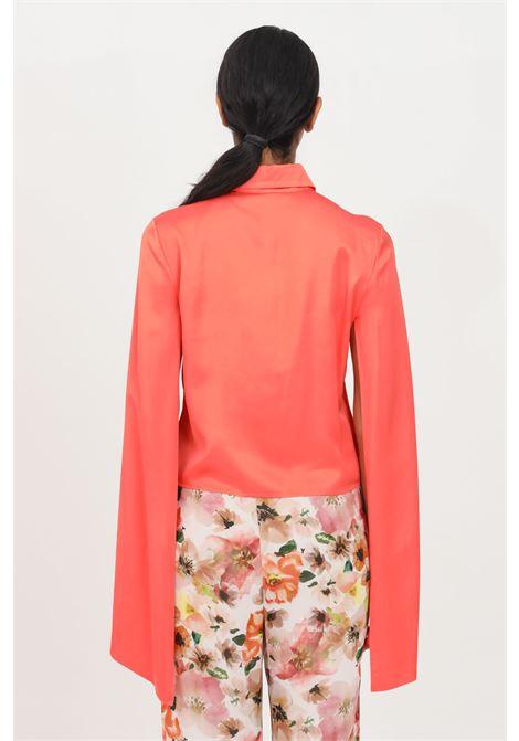 Coral elegant shirt with long sleeves patrizia pepe  PATRIZIA PEPE | Shirt | 2C1272-A7O3R720