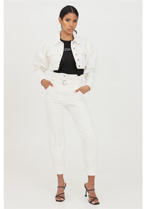 Jeans donna bianco patrizia pepe con vestibilità morbida PATRIZIA PEPE | Jeans | 2J2331-A8X8W146
