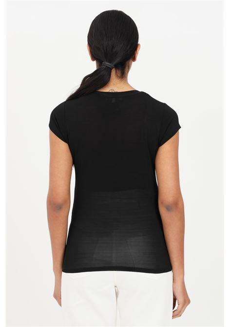 Black women's essential t-shirt short sleeve patrizia pepe PATRIZIA PEPE | T-shirt | 2M4063-A9A1K103