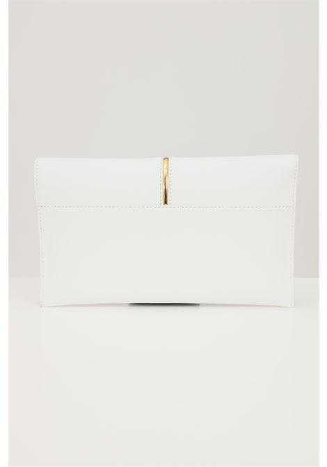 Pochette donna bianca  tinta unita patrizia pepe con logo lettering PATRIZIA PEPE | Borse | 2V5460-A8W9W146