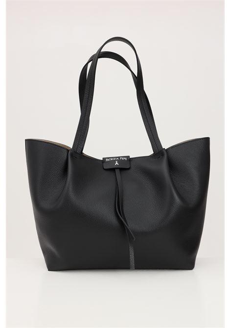 Shopper donna nera patrizia pepe con borsello estraibile PATRIZIA PEPE | Borse | 2V8895-A4U8NK103
