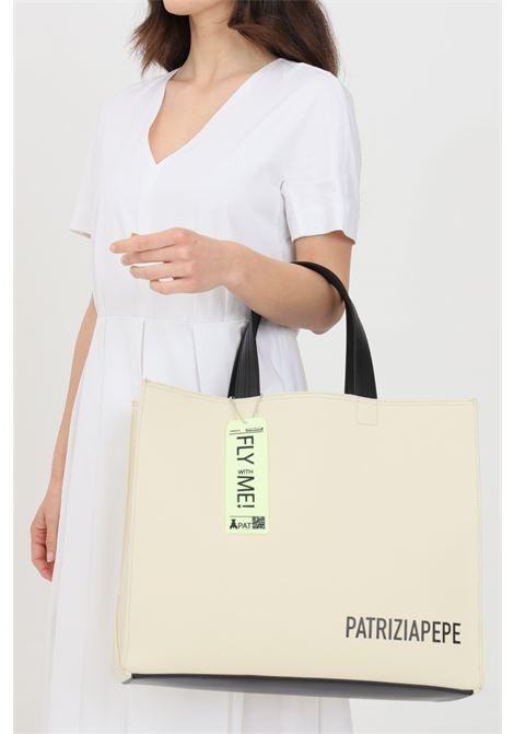 Beige shopper in solid color. Patrizia pepe PATRIZIA PEPE | Bag | 2VA012-A492B638
