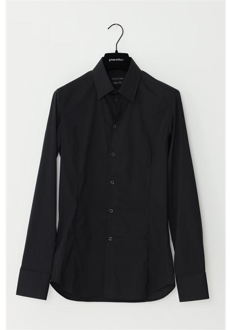 Black shirt, elegant model. Brand: Patrizia Pepe PATRIZIA PEPE | Shirt | 5C0017/A01K102