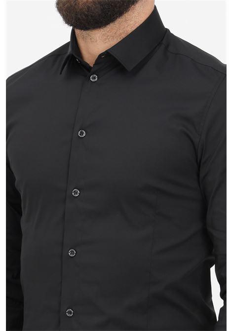 Black men's shirt with buttons elegant model patrizia pepe PATRIZIA PEPE | Shirt | 5C0055/A01K102