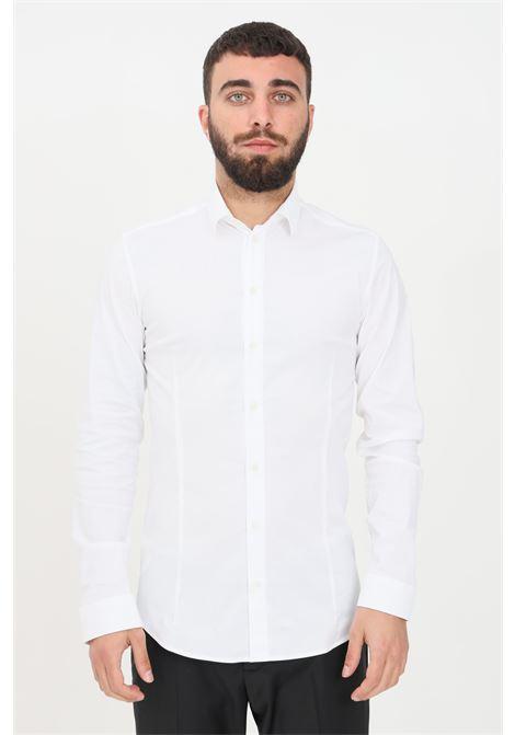 White men's shirt with buttons elegant model patrizia pepe PATRIZIA PEPE | Shirt | 5C0055/A01W103