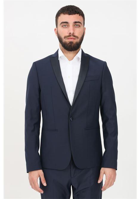 Blue men's jacket patrizia pepe PATRIZIA PEPE | Blazer | 5S0661-A1WKSTRIATOC166