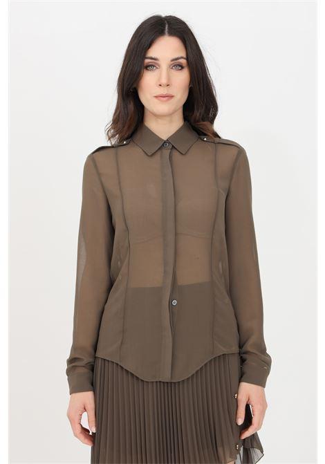 Green chiffon shirt. Patrizia pepe PATRIZIA PEPE | Shirt | 8C0443-A3ZQG507