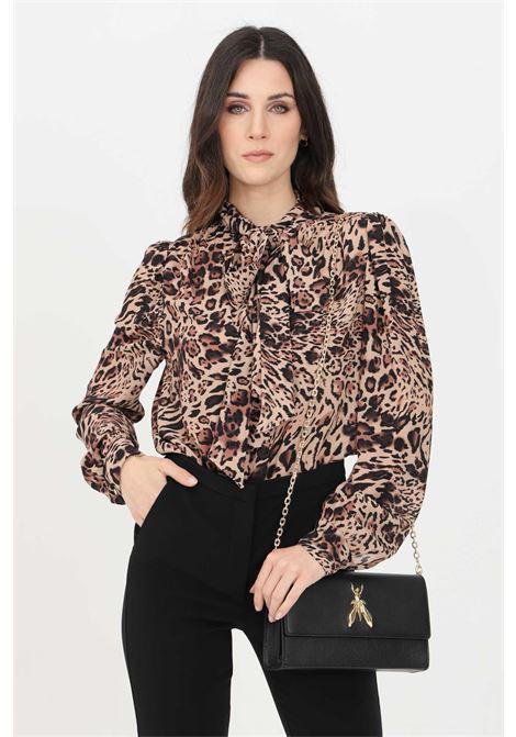 Animal blouse with allover print. Patrizia pepe PATRIZIA PEPE | Blouse | 8C0455-A8V2B677