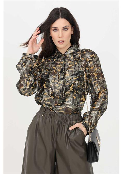 Green shirt with allover print. Patrizia pepe PATRIZIA PEPE | Shirt | 8C0457-A8S5XF80