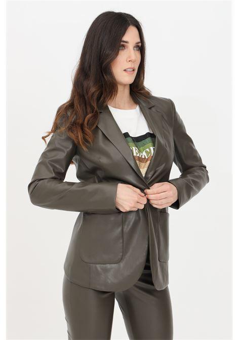 Giacca donna verde patrizia pepe in morbida pelle PATRIZIA PEPE | Giacche | 8L0383-A1DZG507