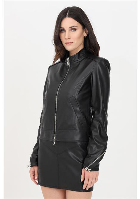 Black jacket, synthetic leather. Patrizia pepe PATRIZIA PEPE | Jacket | 8L0396-A1DZK103