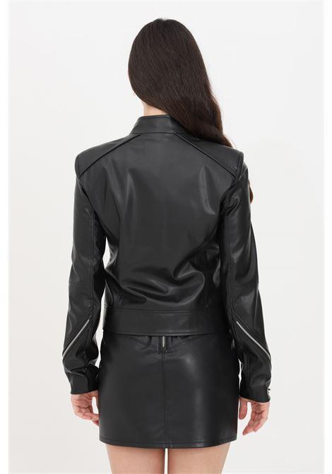 Giubbotto donna nero patrizia pepe giacca in pelle PATRIZIA PEPE | Giubbotti | 8L0396-A1DZK103