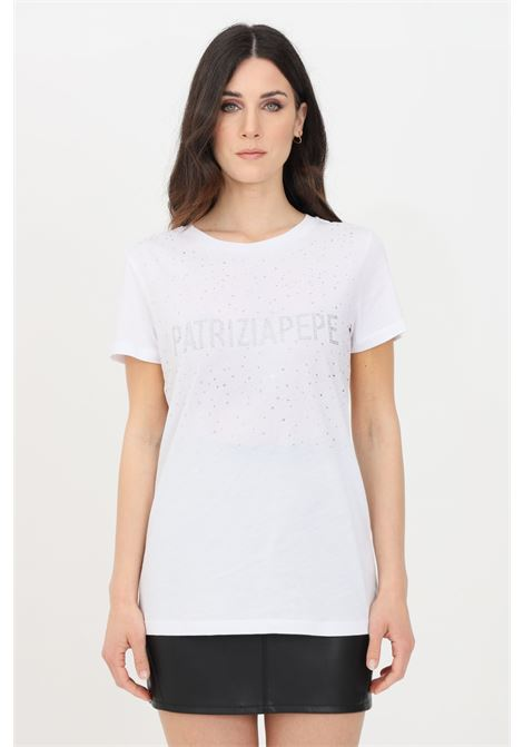 White t-shirt, short sleeve. Patrizia pepe PATRIZIA PEPE | T-shirt | 8M1190-A4V5W103
