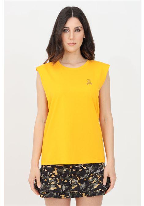 Orange t-shirt with small logo on the front, sleeveless. Patrizia pepe PATRIZIA PEPE | T-shirt | 8M1206-A8U4R713