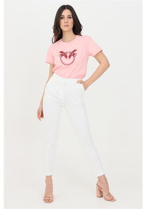 Pantalone donna bianco pinko elegante modello cigarette PINKO | Pantaloni | 1G15LF-5872Z05
