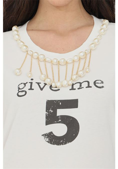 White t-shirt with short sleeves. Brand: Pinko PINKO | T-shirt | 1G15NU-Y6YXZ14