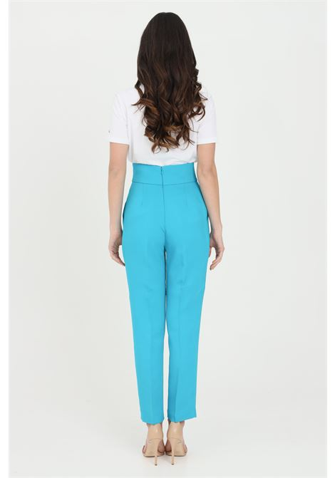 Light blue pants in stretch crepe with high waist. Pinko PINKO | Pants | 1G15P3-8385U98