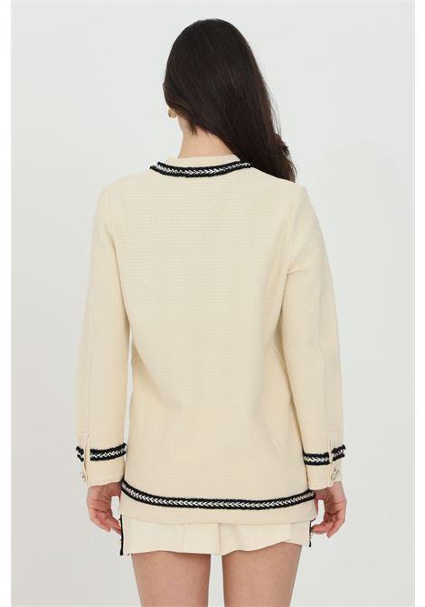 Beige cardigan in tweed with buttons. Pinko PINKO | Cardigan | 1G15Q0-Y6T6C22
