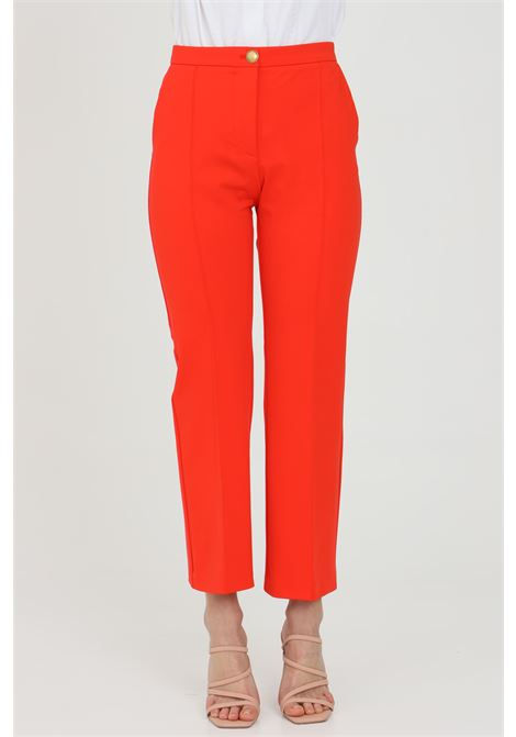 Red pants with central closure with metal button. Pinko PINKO | Pants | 1G15SC-5872R25