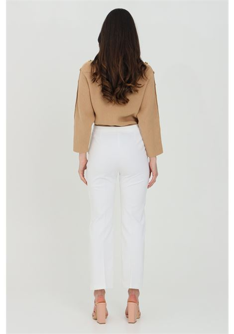 White pants with central closure with metal button. Pinko PINKO | Pants | 1G15SC-5872Z05