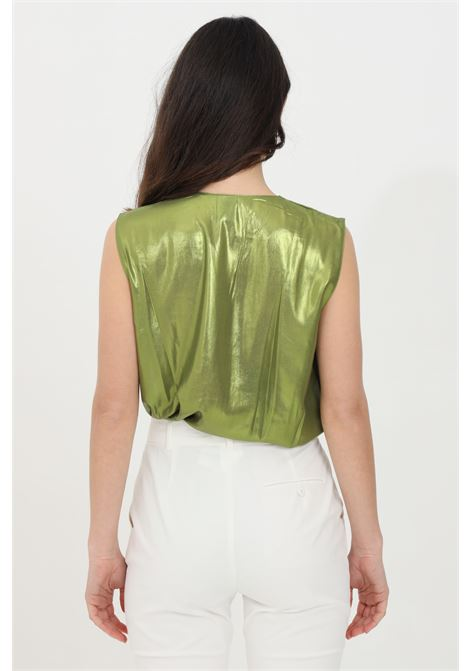 Lime body in laminated georgette. Brand: Pinko PINKO | Body | 1G15TD-Y63DT56