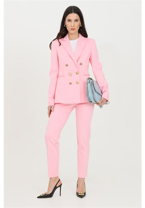 Pink jacket in fabric stitch with gold buttons on the front. Pinko PINKO | Blazer | 1G15TQ-5872P95