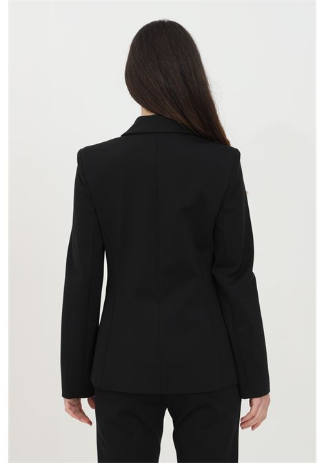 Black jacket in fabric stitch with gold buttons on the front. Pinko PINKO | Blazer | 1G15TQ-5872Z99