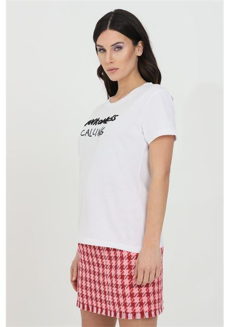 T-shirt con logo frontale in pietre nere PINKO | T-shirt | 1G15YW-Y5BDZZ1