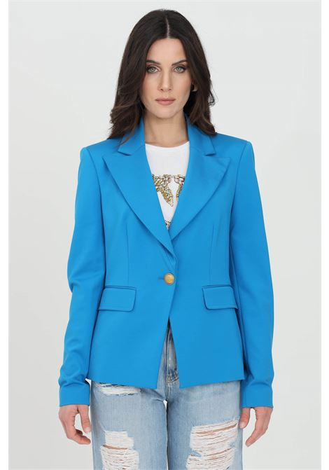 Blue jacket with gold button. Slim fit. Pinko PINKO | Blazer | 1G160B-5872G32