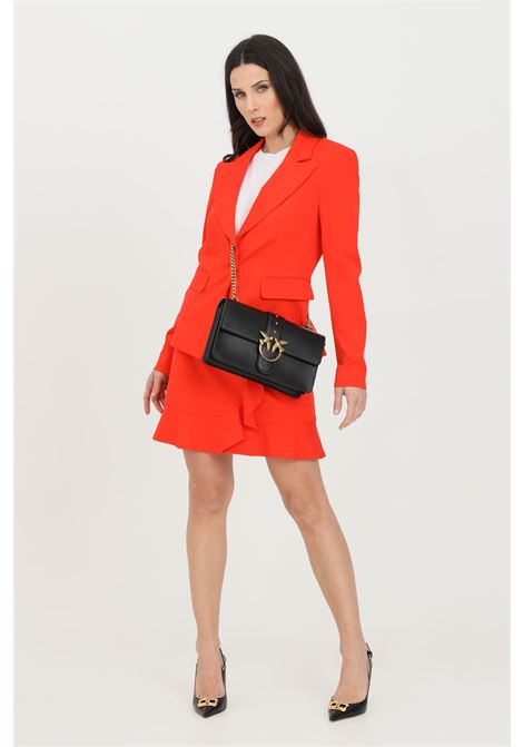 Red jacket with gold button. Slim fit. Pinko PINKO | Blazer | 1G160B-5872R25