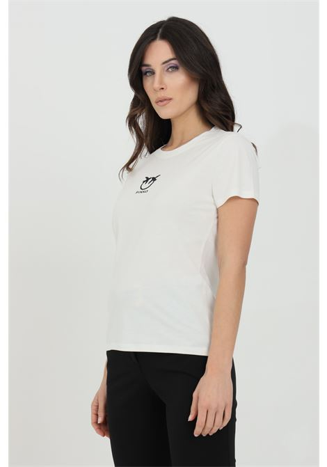 T-shirt a maniche corte con logo ricamato sul fronte PINKO | T-shirt | 1G1619-Y651Z05