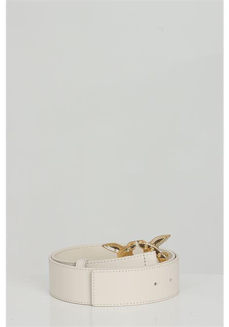 Cintura in pelle con fibbia in oro light PINKO | Cinture | 1H20WJ-Y6XFZ03
