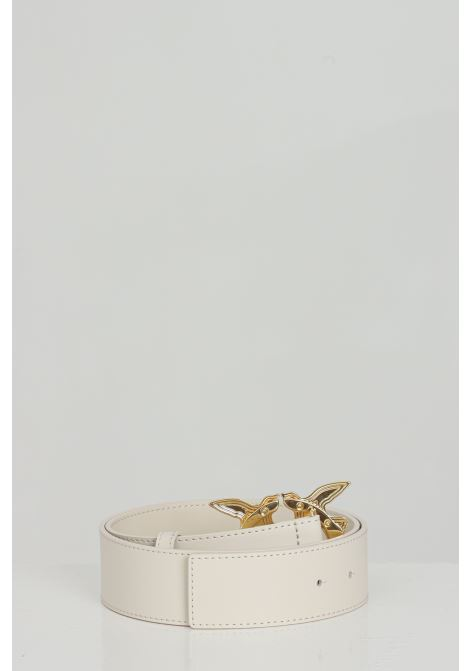 Cream belt with light gold buckle. Pinko PINKO | Belt | 1H20WJ-Y6XFZ03