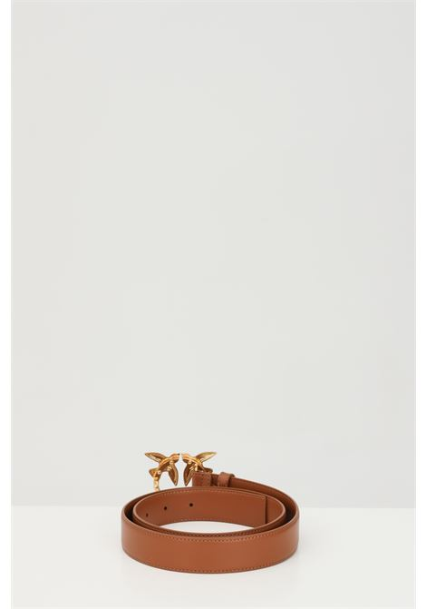 Brown belt with light gold buckle. Pinko PINKO | Belt | 1H20WK-Y6XFL58