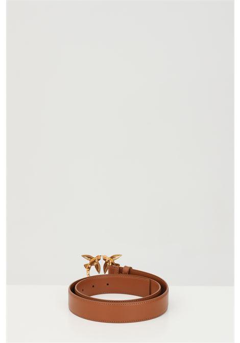 Cintura donna marrone pinko con fibbia logata metallica PINKO | Cinture | 1H20WK-Y6XFL58