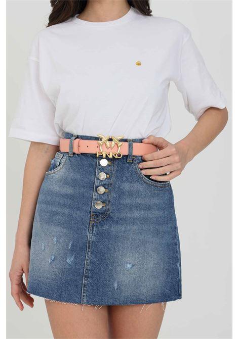 Cintura con fibbia logata metallica PINKO | Cinture | 1H20WK-Y6XFN29