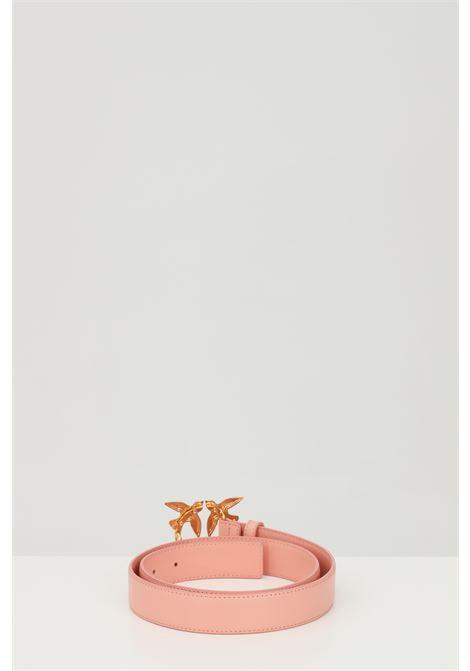 Cintura donna rosa pinko con fibbia logata metallica PINKO | Cinture | 1H20WK-Y6XFN29
