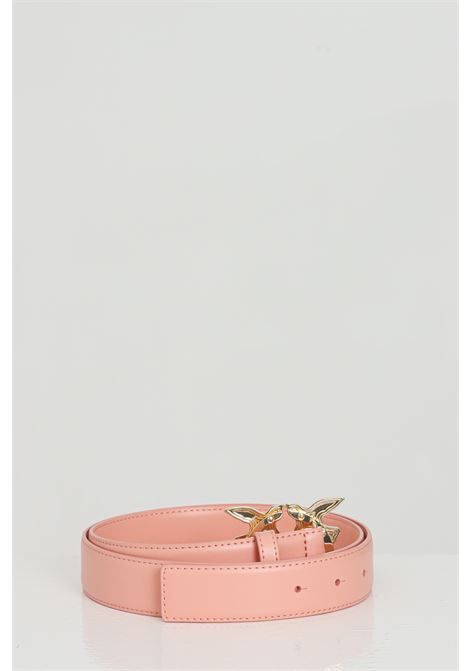 Pink belt with light gold buckle. Pinko PINKO | Belt | 1H20WK-Y6XFN29