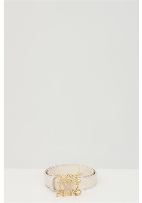 Cintura donna panna pinko con fibbia logata metallica PINKO | Cinture | 1H20WK-Y6XFZ03