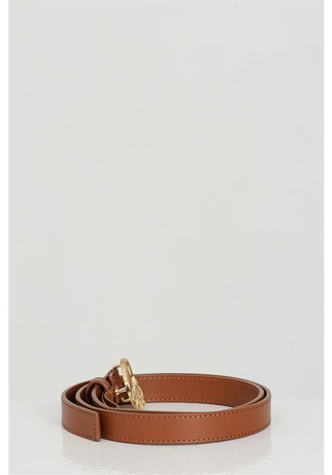Cintura donna in tinta unita con logo gold in acciaio PINKO | Cinture | 1H20WV-Y6XFL58