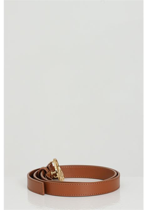 Brown belt with gold steel logo. Pinko PINKO | Belt | 1H20WV-Y6XFL58