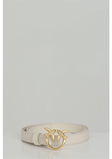 Cintura donna in tinta unita con logo gold in acciaio PINKO | Cinture | 1H20WV-Y6XFZ03
